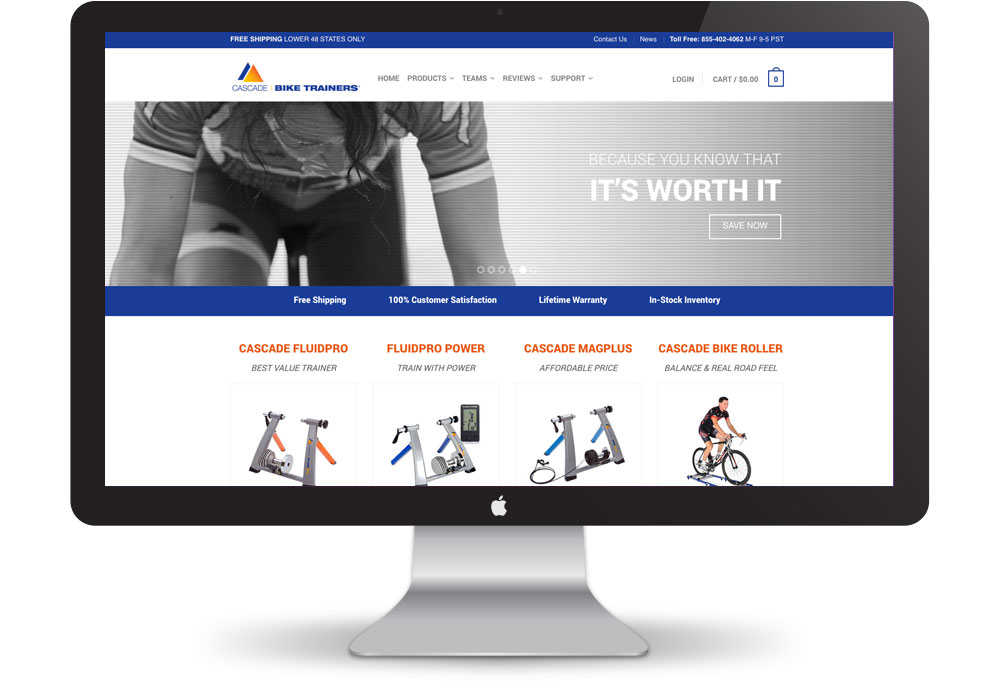 Cascade Bike Trainer Website