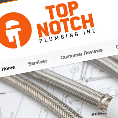 Top Notch Plumbing of Olympia - Site Designed by Pure Design Group