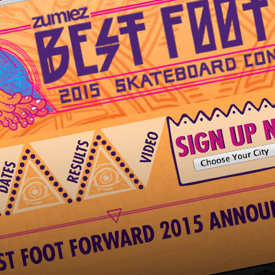 Zumiez Best Foot Forward Skate Competition - Site Design by Pure Design Group