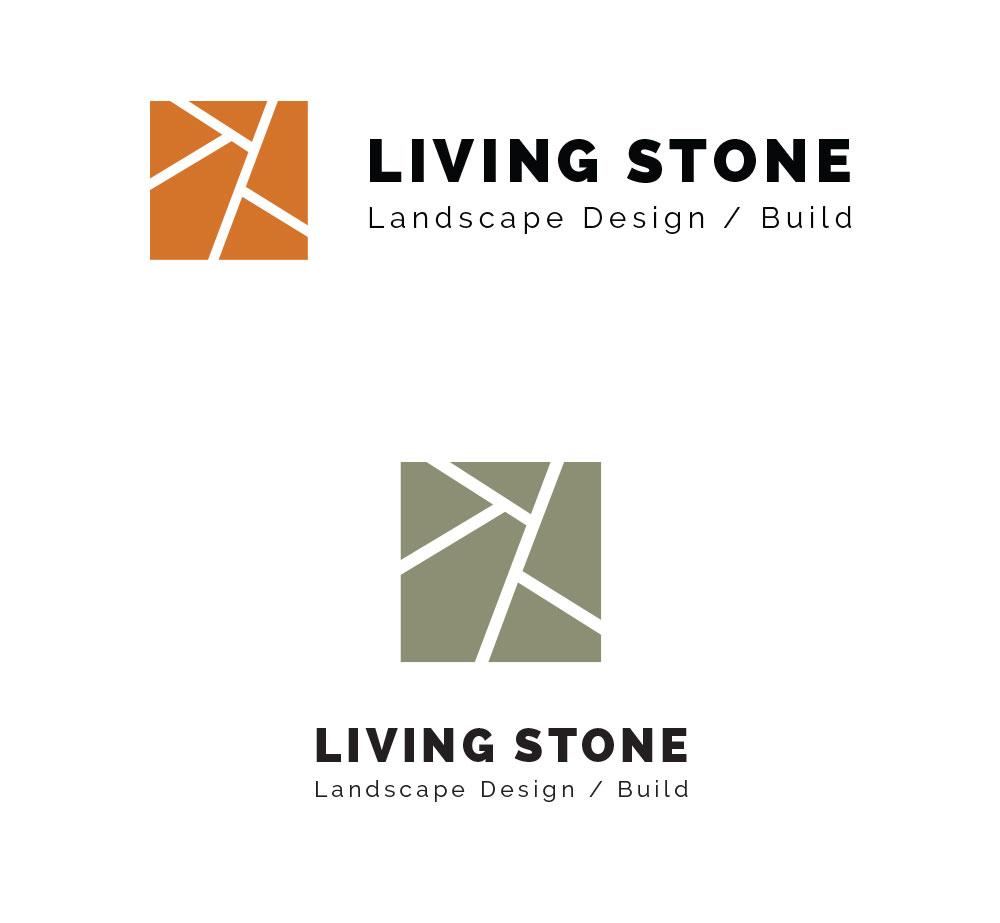 Living Stone Logo Design | Pure Design Group Logo Designers in Seattle